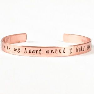 I'll hold you in my Heart-Copper Rose Gold Bangle